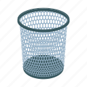 basket, can, cartoon, garbage, mesh, rubbish, trash
