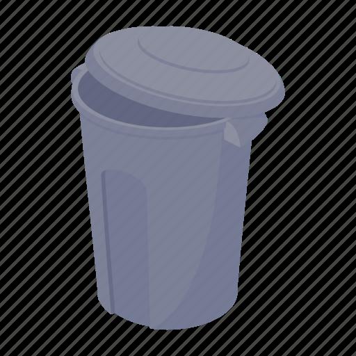 basket bin can cartoon garbage rubbish trash icon
