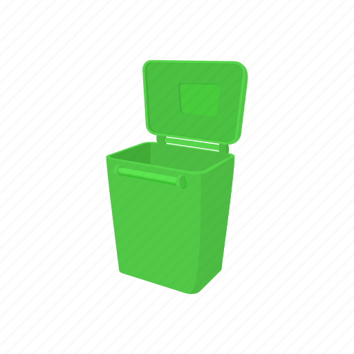 bin, cartoon, container, environment, garbage, street, trash icon