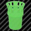 bin, cartoon, container, environment, garbage, street, trash icon