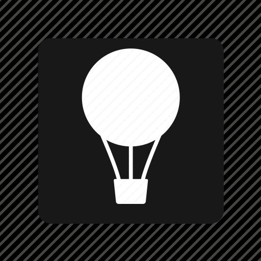 air balloon, flay, transportation icon