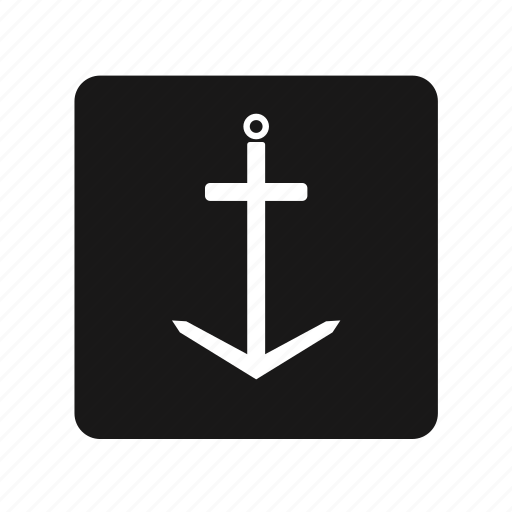 anchor, maritime, sea, transportation icon