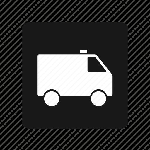 ambulance, box, car, transportation icon