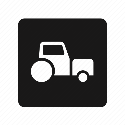 tracktor, transportation icon