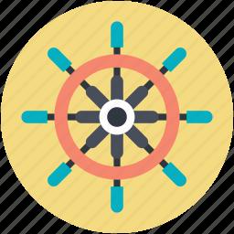 direction, ship steering, ship steering wheel, ship wheel, travel symbol icon