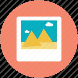 landscape, painting, photo, scene, scenery icon