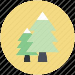christmas trees, cypress trees, evergreen trees, fir trees, pine trees icon