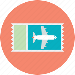 air ticket, airline ticket, boarding pass, flight ticket, plane ticket icon