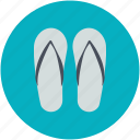 beach sandal, flipflop, footwear, house slippers, pair of sandal, slippers icon