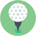 game, golf, golf ball, golf tee, golfing icon