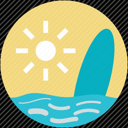 beach, sea, summer, sun, surfboard icon