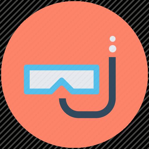 dive mask, diving equipment, scuba mask, snorkel, swim mask icon