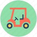 golf car, golf cart, golf motor, golf trolley, vehicle icon