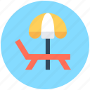 beach, sunbathe, sunshade, tanning, umbrella icon