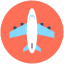 aeroplane, air travel, aircraft, airplane, plane icon
