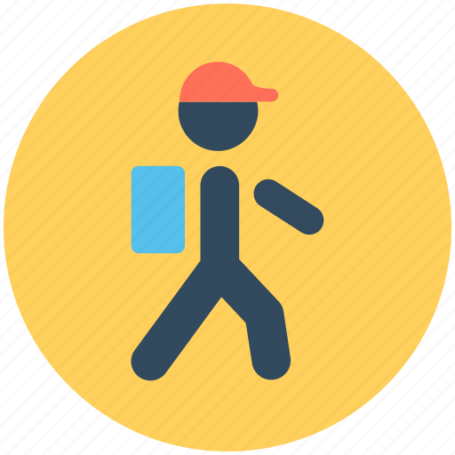 explorer person, hiker, mountaineer, passenger, traveller icon