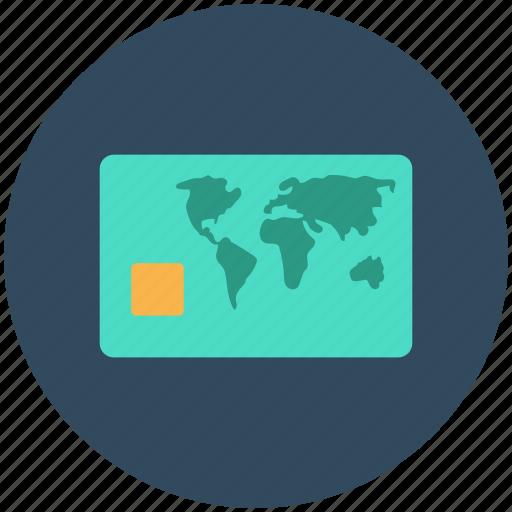 Bank card, cash card, credit card, plastic money, visa card icon - Download on Iconfinder