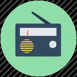 old radio, radio, radio set, technology, transmission icon