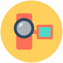 camcorder, device, video camera, video recording icon