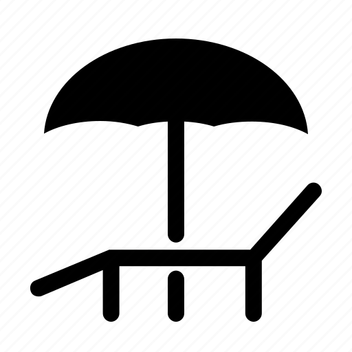 relax, tourism, travel, umbrella, vacation icon