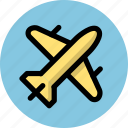 airplane, flight, plane, scheduled flight, tourism, travel icon