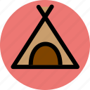 bivouac, camp, camping, encampment, survival, tent icon