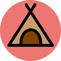 bivouac, camp, camping, encampment, survival, tent icon
