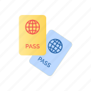 identification, isolated, passport icon