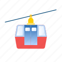 cable, cableway, lift icon