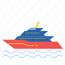 boat, luxury, sea, yacht icon