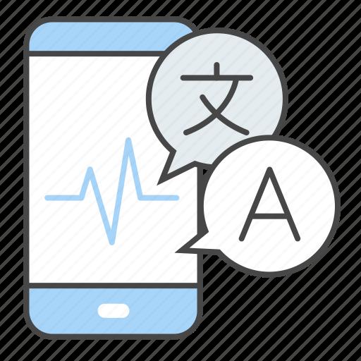 app, language, mobile, smartphone, translate, translation, travel icon