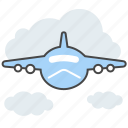 aircraft, airplane, flight, fly, plane, travel, vacation icon