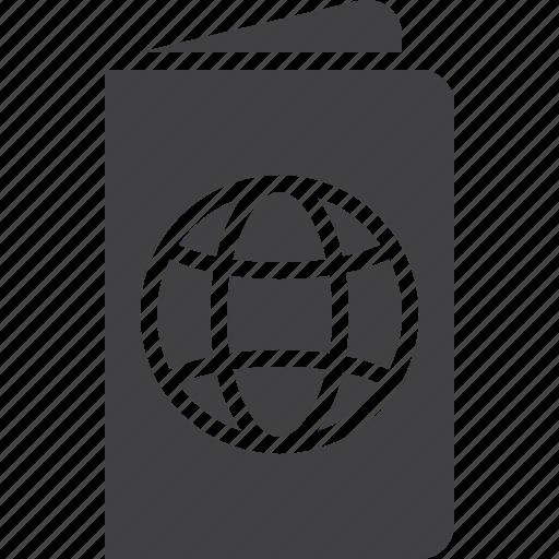 document, passport, travel icon