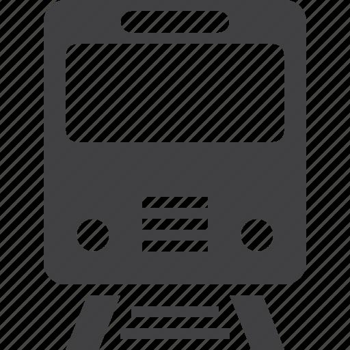railroad, subway, train icon