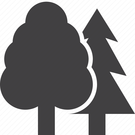 forest, reserve, trees icon