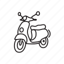 scooter, speed, travel, travelling icon