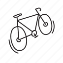 bicycle, speed, travel, travelling, walk icon