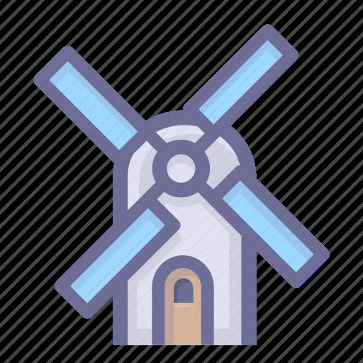 mill, pinwheel, wind, windmill, winnower, winnowing machine icon
