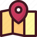 holiday, map, pin, tourism, travel, vacation icon