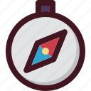 compass, holiday, navigate, tourism, travel, vacation icon