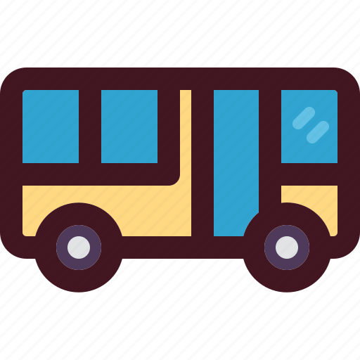 bus, holiday, tourism, transport, travel, vacation icon