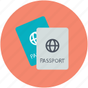 passport, travel id, travel pass, travel permit, visa icon