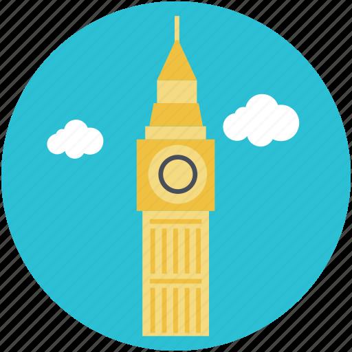 big ben, clock tower, landmark, london, monument icon
