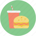 burger, fastfood, food, juice, junk food icon