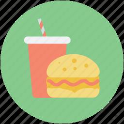 burger, fastfood, food, juice, junk food icon