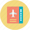 air ticket, airline ticket, boarding pass, flight ticket, plane ticket icon