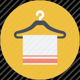 bath towel, bathroom, fabric, towel, towel hanger icon