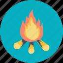 adventure, campfire, fire, heat, picnic