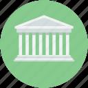 architecture, building, building columns, building front, roman building icon