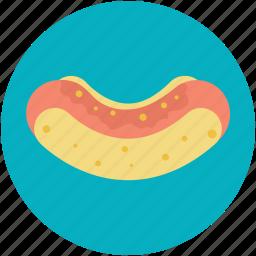 fast food, hotdog, hotdog burger, hotdog sandwich, junk food icon